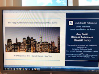 Sponsoring and attending Hedge Fund Global Compliance Conference in New York