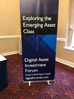 Digital Asset Investment Forum in Washington DC