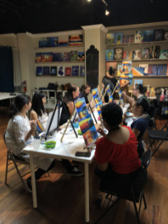 Loeb Smith members enjoy painting session
