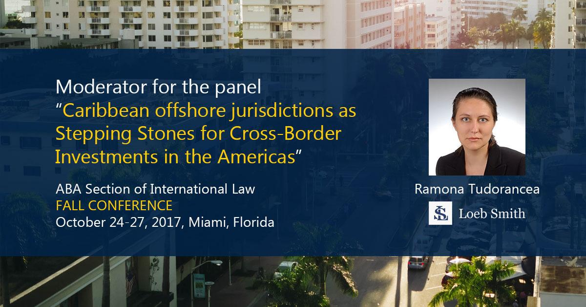 Moderator Ramona Tudorancea at the ABA Section of International Law Fall Conference